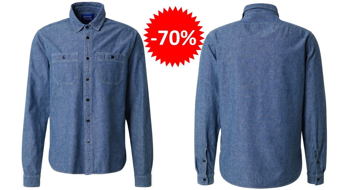 Camisa Scoth & Soda barata, ropa de marca barata, ofertas en camisas chollo