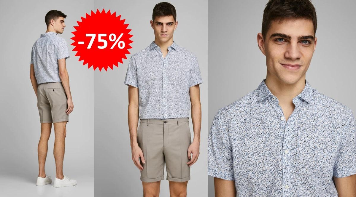 Camisa estampada Jack & Jones barata, ropa de marca barata, ofertas en camisas chollo