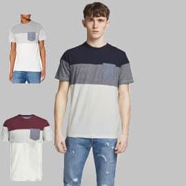 Camiseta Jack & Jones Jjcontrast Pocket barata, camisetas de marca baratas, ofertas en ropa