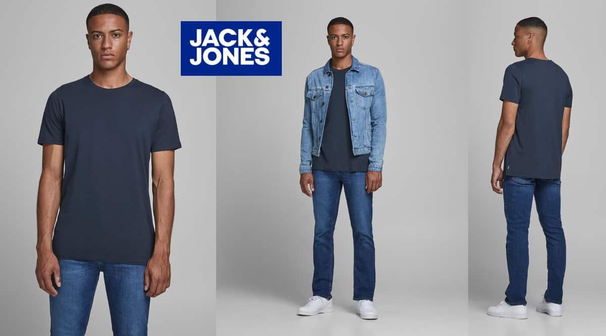 Camiseta Jack & Jones Jjeorganic Basic barata, camisetas de manga corta de marca baratas, ofertas en ropa, chollo