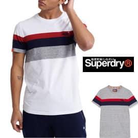 Camiseta Superdry Classic Stripe barata, camisetas de marca baratas, ofertas en ropa