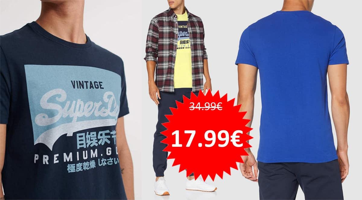 Camiseta Superdry Vintage barata. Ofertas en ropa de marca, ropa de marca barata, chollo
