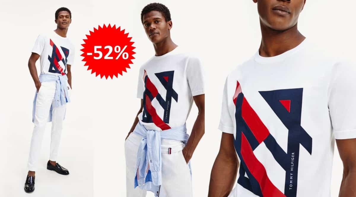 Camiseta Tommy Hilfiger Deconstructed barata, ropa de marca barata, ofertas en camisetas chollo