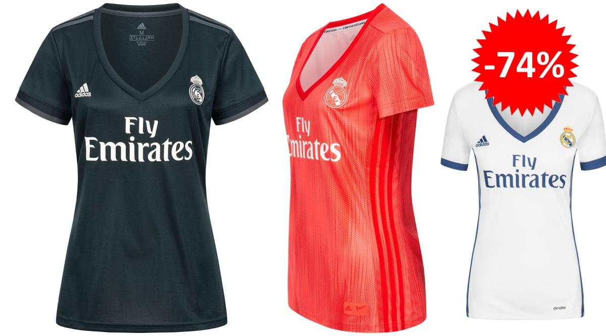 Camiseta del Real Madrid para mujer barata, ropa de marca barata, ofertas en material deportivo chollo
