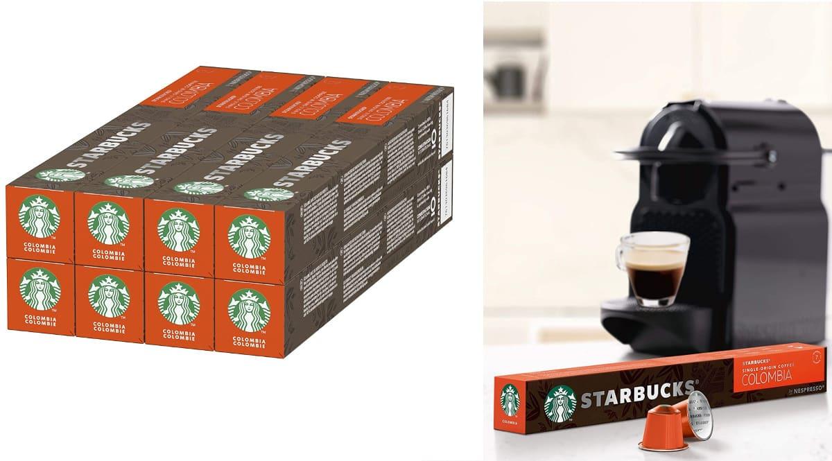 Cápsulas de café de tostado medio Starbucks Single Origin Colombia De Nespresso baratas, café de cápsulas barato, ofertas supermercado, chollo