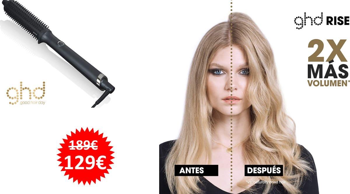 Cepillo moldeador GHD Rise barato, cepillos moldeadores de marca baratos, ofertas peluquería y belleza, chollo