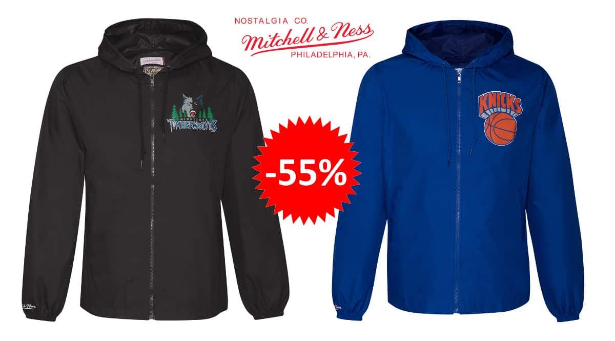 Chaquetas cortavientos de la NBA Mitchel & Ness barata, ropa de marca barata, ofertas en ropa deportiva chollo
