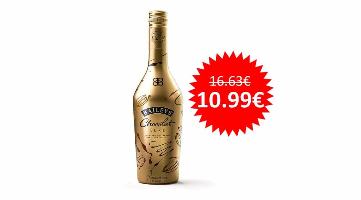 ¡¡Chollo!! Crema de whisky Baileys Chocolat Luxe, botella de 50 cl, sólo 10.99 euros.