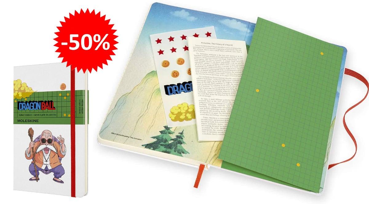 Cuadernos Moleskine Dragon Ball baratos, libretas baratas, ofertas en material escolar chollo