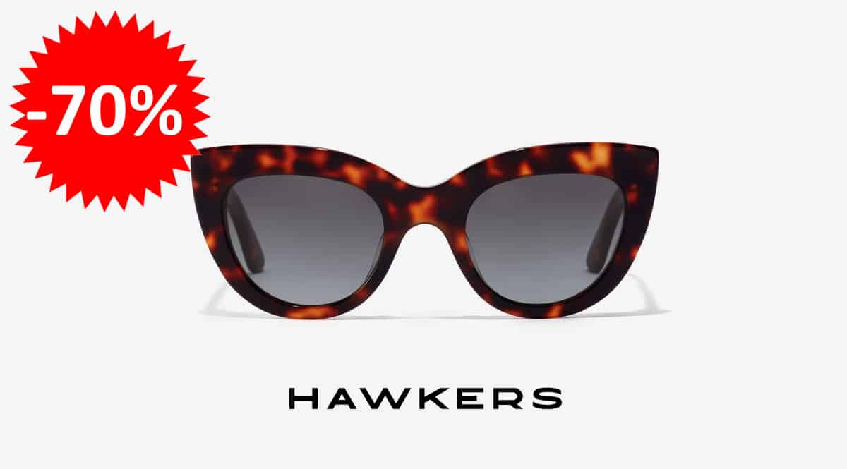 ¡Código descuento! Gafas de sol unisex Hawkers Dark Carey Hyde sólo 14.95 euros. 70% de descuento.