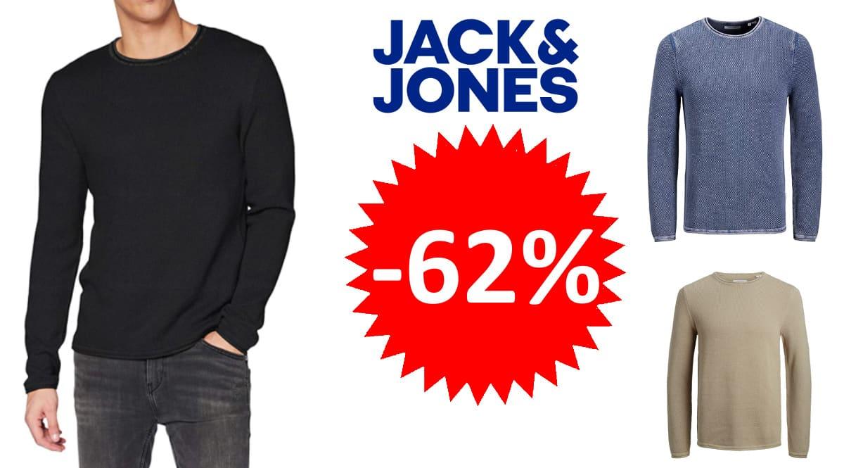 Jersey de punto Jack & Jones Jjrol barato, jerséis de punto de marca baratos, ofertas en ropa, chollo