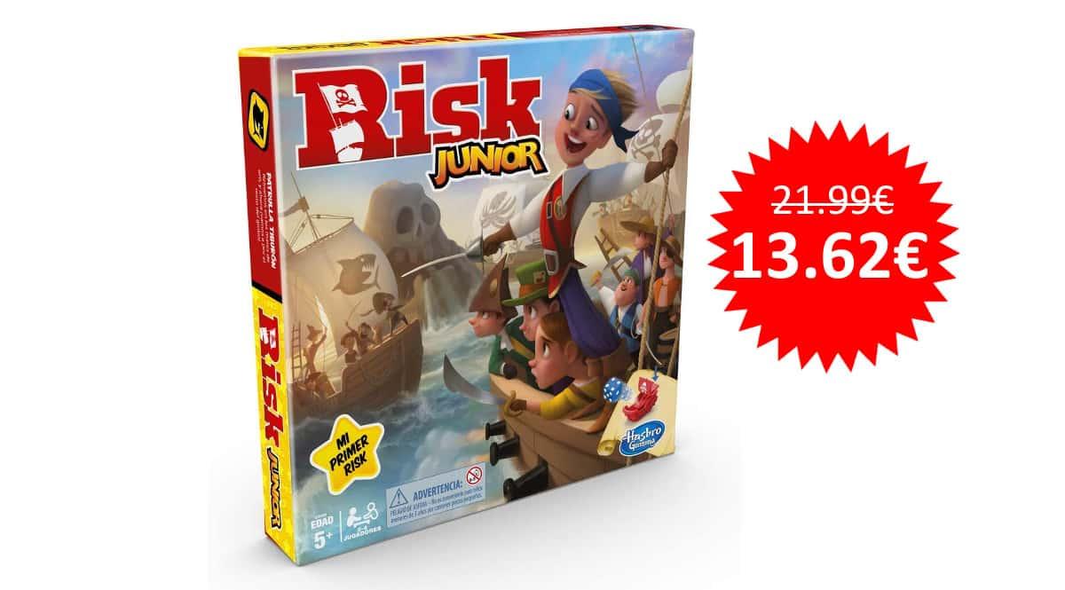 ¡Precio mínimo histórico! Juego Risk Junior sólo 13.62 euros.