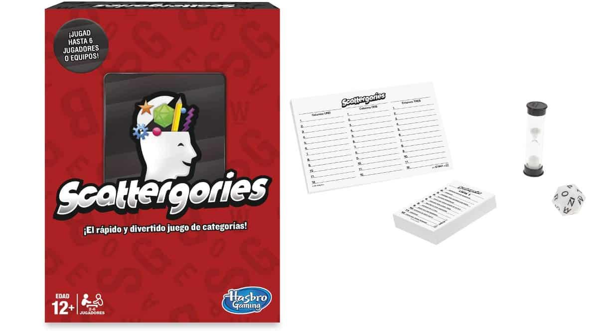 Juego Scattergories de Hasbro barato, juegos de mesa baratos, ofertas en juguetes chollo