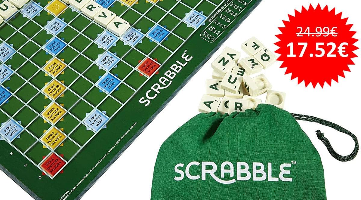 ¡Precio mínimo histórico! Juego de mesa Scrabble Original en español sólo 17.52 euros.