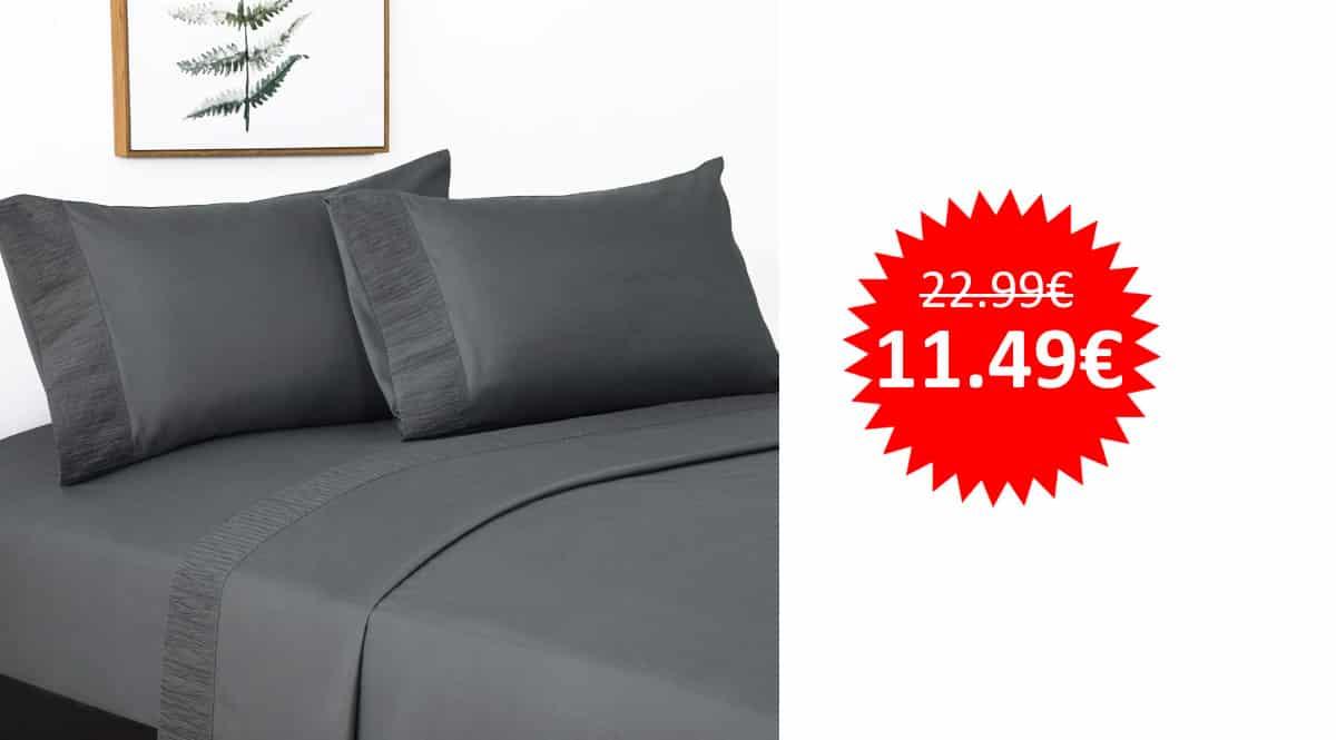 ¡Código descuento! Juego de sábanas Bedsure 90×190/200cm sólo 11.49 euros. 50% de descuento.