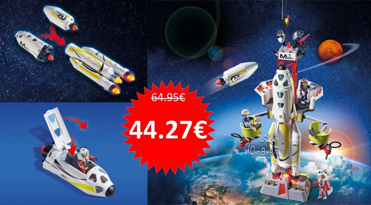 Juguete Playmobil Space - Cohete con plataforma barato. Ofertas en juguetes, juguetes baratos, chollo