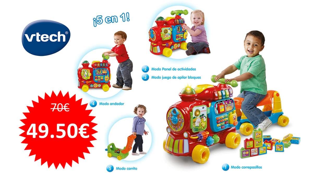 Juguete VTech Maxi Tren 5 en 1 barato. Ofertas en juguetes, juguetes baratos, chollo