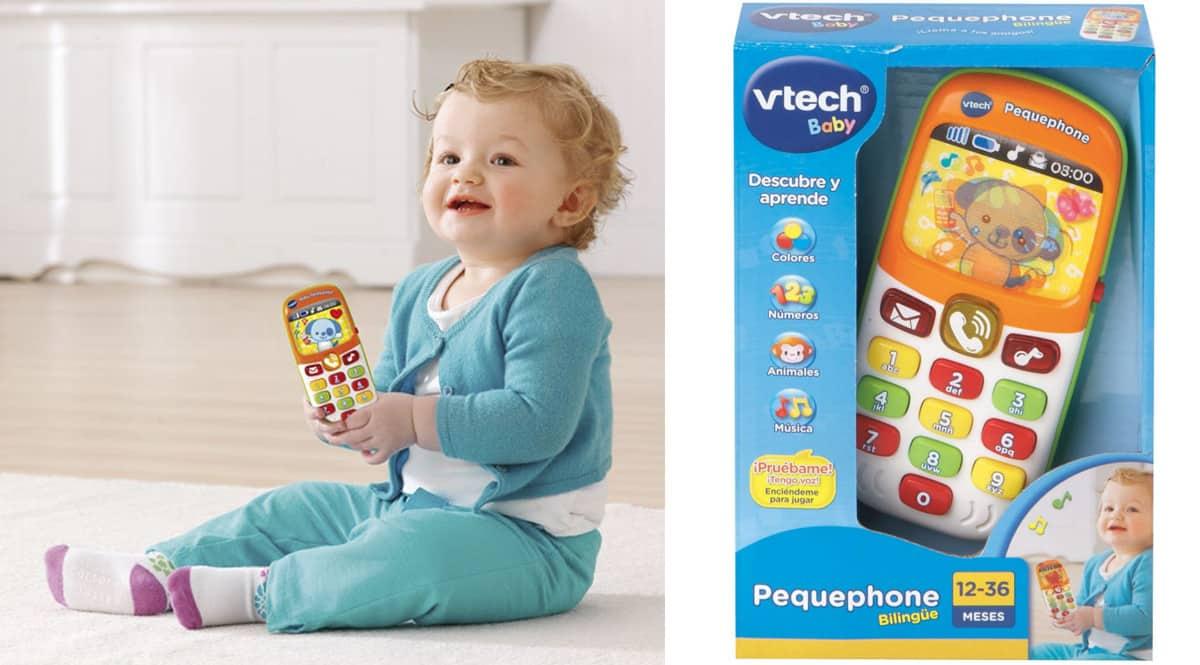 Juguete VTech Pequephone barato. Ofertas en juguetes, juguetes baratos, chollo