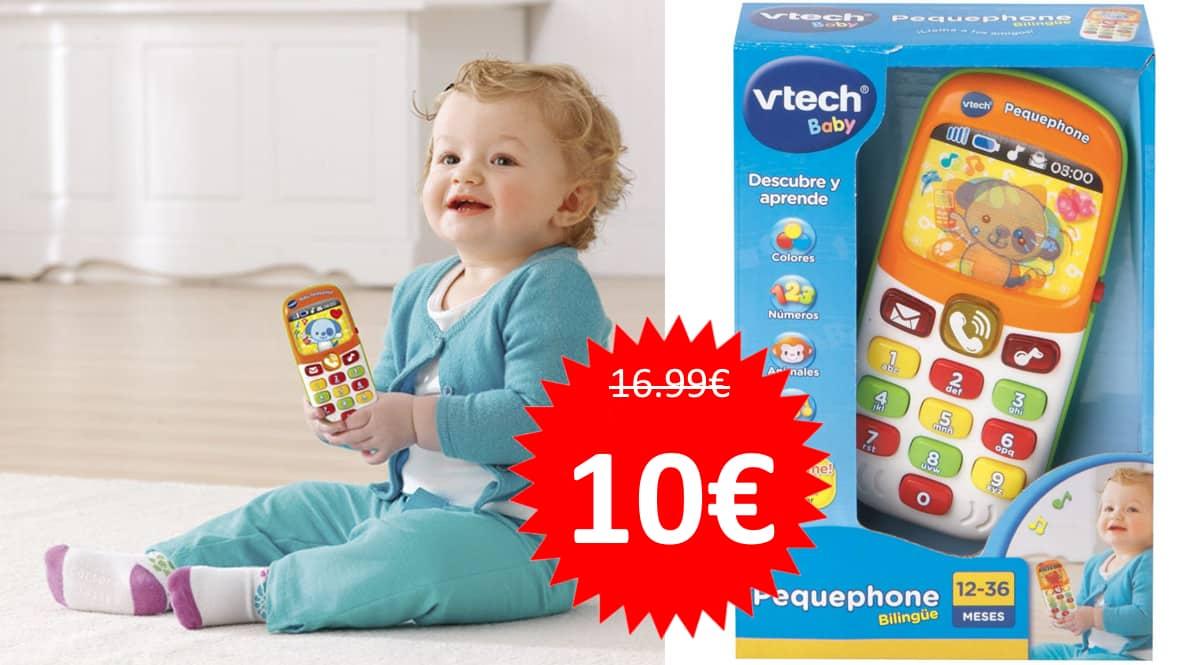 Juguete VTech Pequephone barato. Ofertas en juguetes, juguetes baratos,chollo
