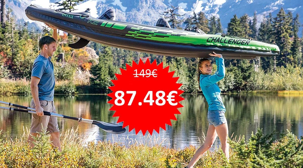Kayak hinchable Intex Challenger K2 barato. Ofertas en kayaks, kayaks baratos, chollo