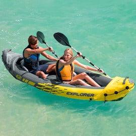 ¡¡Chollo!! Kayak hinchable Intex Explorer K2 con 2 remos sólo 89 euros. Te ahorras 80 euros.