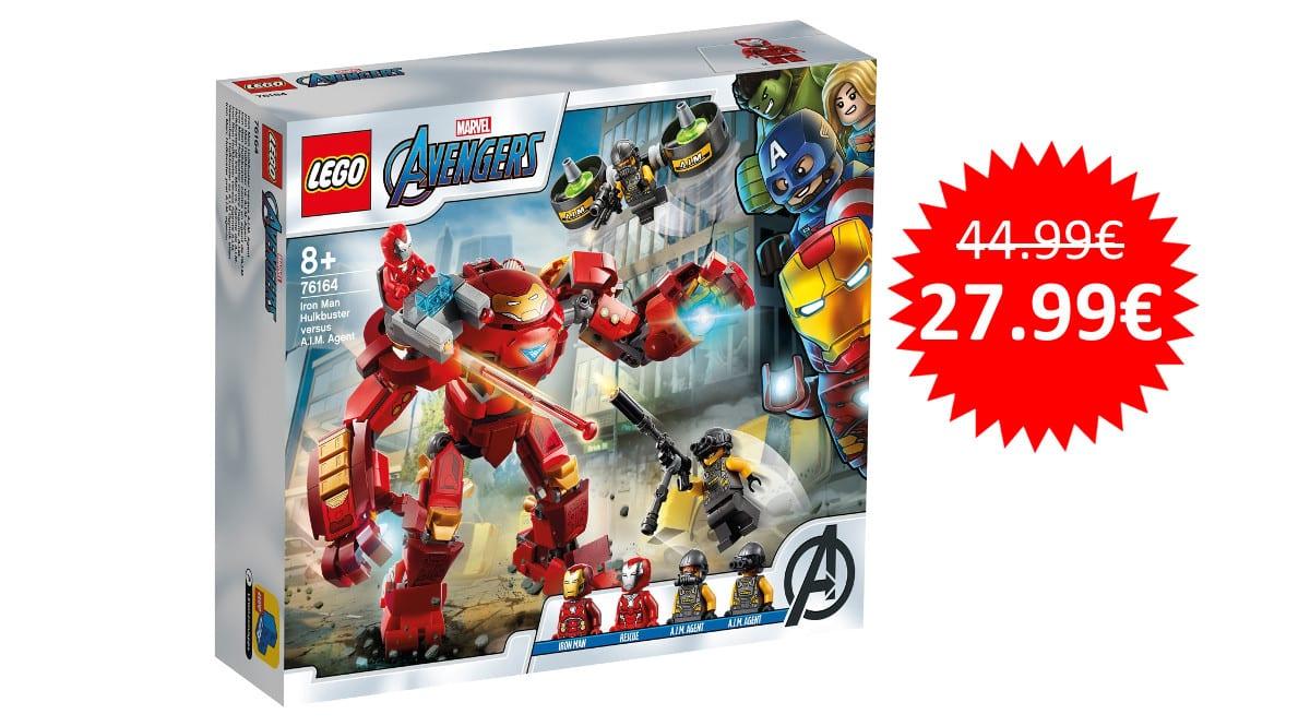 ¡Precio mínimo histórico! LEGO Hulkbuster de Iron Man vs. Agente de A.I.M. sólo 27.99 euros.