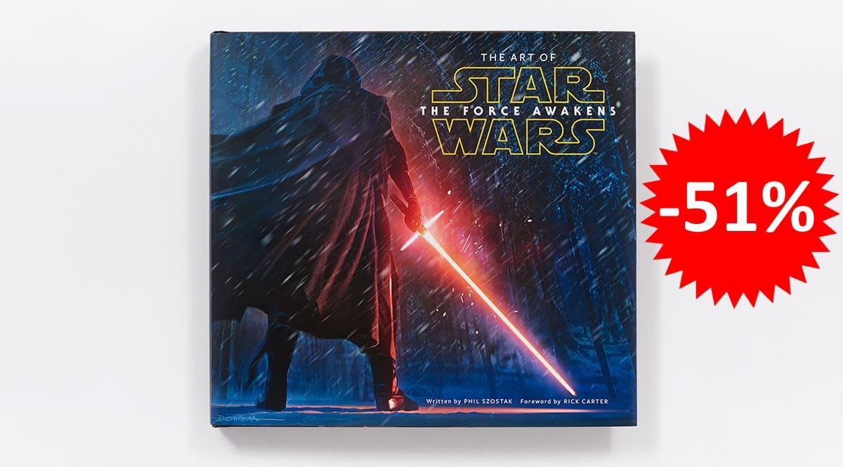 ¡¡Chollo!! Libro ilustrado The Art of Star Wars: The Force Awakens sólo 19.42 euros. 51% de descuento.