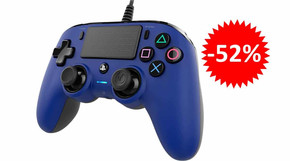 ¡¡Chollo!! Mando USB Nacon para PS4/PC sólo 19.05 euros. 52% de descuento.