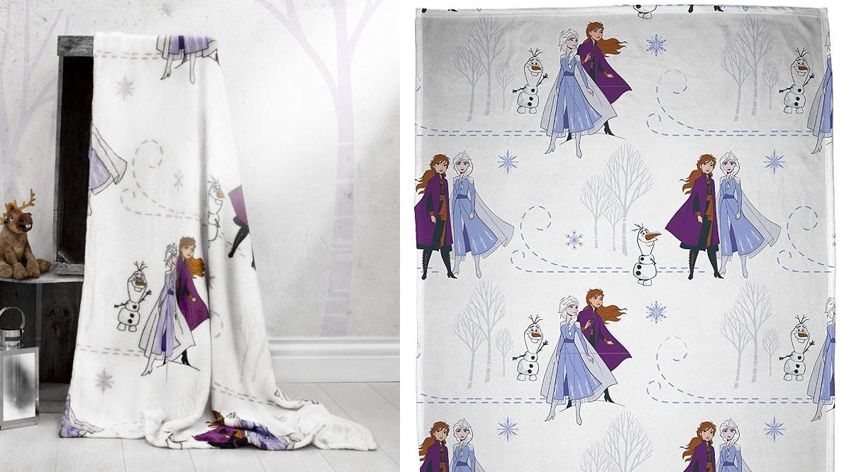 Manta con forro polar Frozen 2 barata, mantas baratas, ofertas para la casa chollo