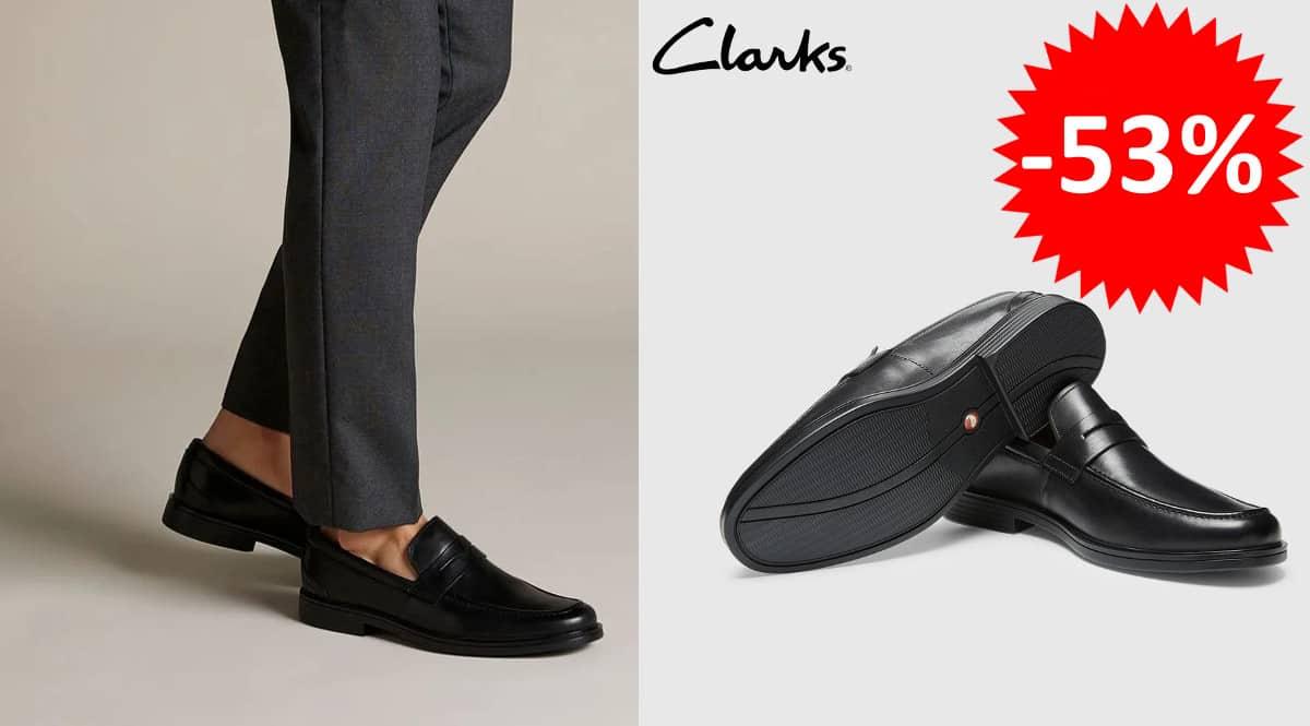 ¡Precio mínimo histórico! Mocasines para hombre Clarks Un Aldric Step sólo 52 euros. 53% de descuento.