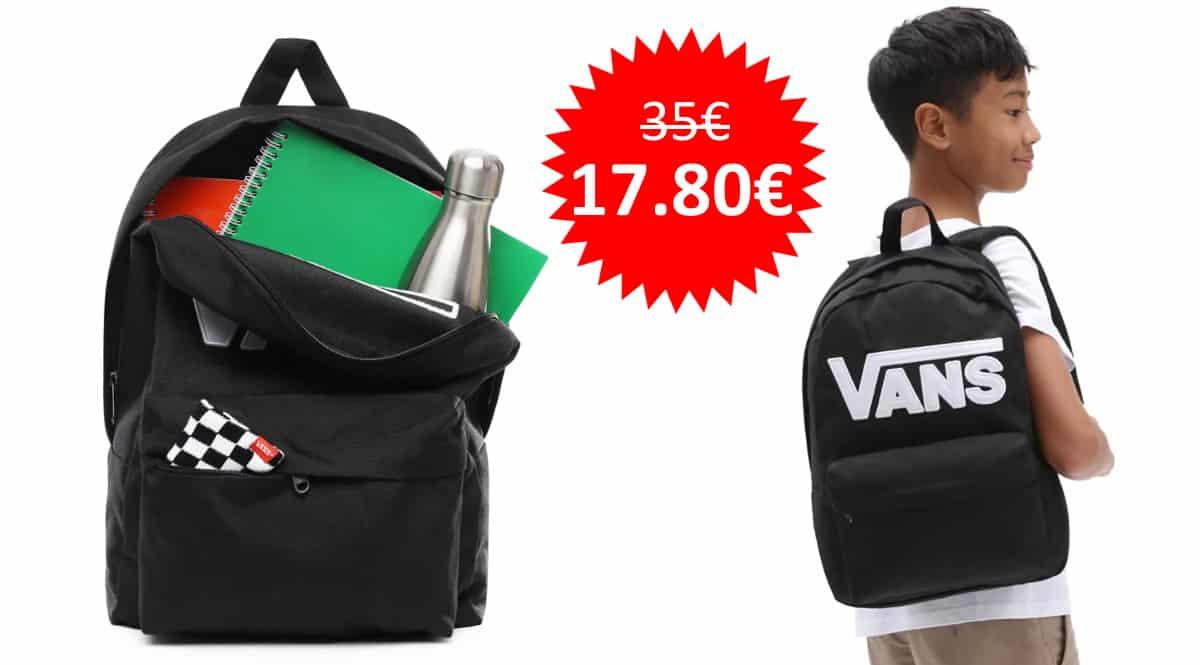 ¡Precio mínimo histórico! Mochila Vans New Skool sólo 17.80 euros. Mitad de precio.