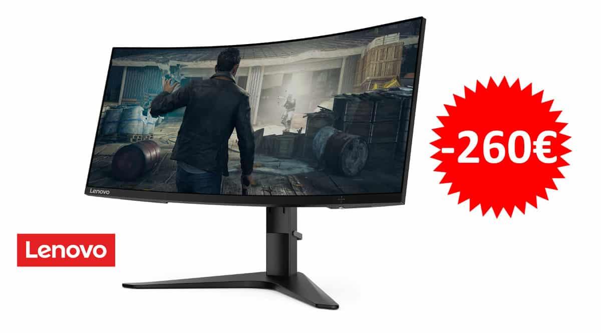 ¡Código descuento! Monitor gaming curvo Lenovo G34W-10 34″ LED UltraWide QHD sólo 339 euros. Te ahorras 260 euros.
