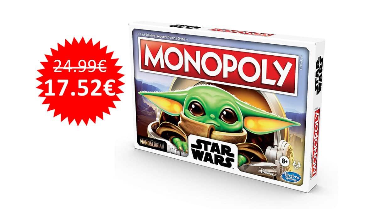 ¡Precio mínimo histórico! Monopoly Star Wars The Child sólo 17.52 euros.