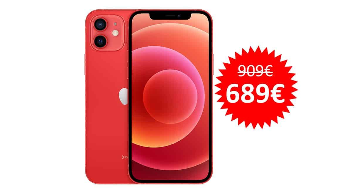 ¡Código descuento! Móvil Apple iPhone 12 de 64GB sólo 689 euros. Ahórrate 220 euros.