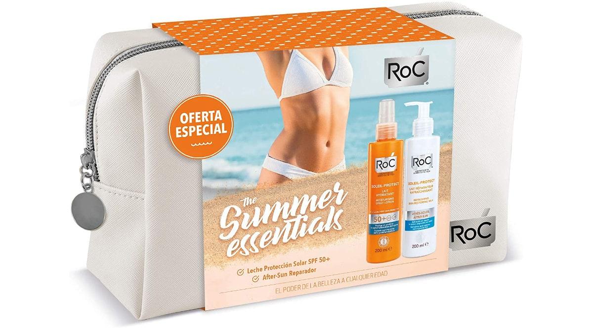 Neceser Roc Soleil con protector Solar SPF50 + Aftersun barato, cremas solares baratas, ofertas en belleza, chollo