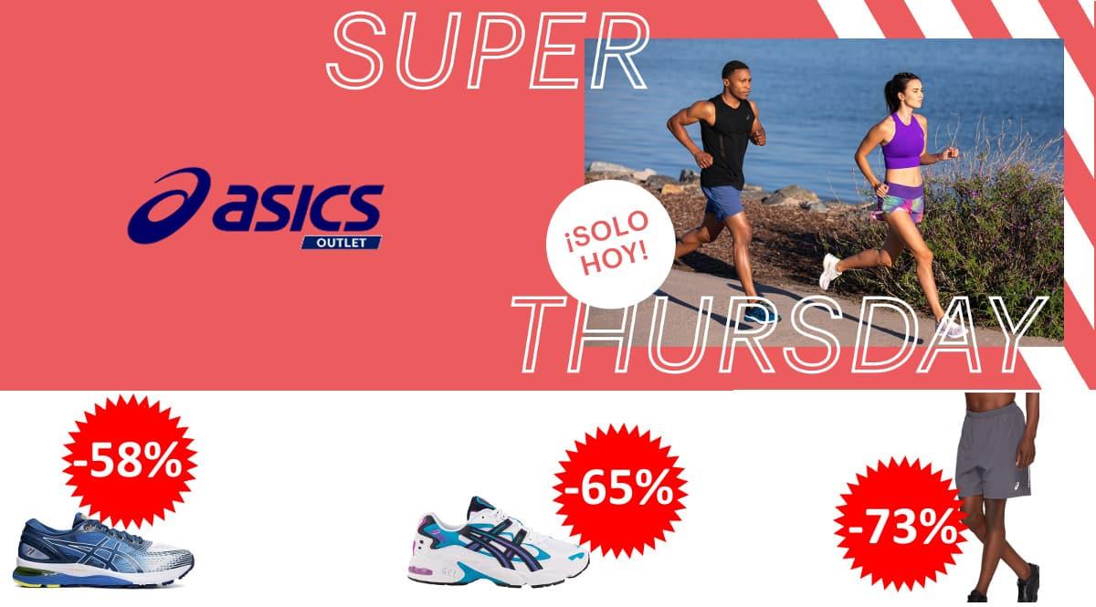 Ofertas Super Thursday Asics Outlet, ropa y calzado deportivo de marca barato, ofertas en ropa y zapatillas deportivas, chollo