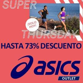 Ofertas Super Thursday Asics Outlet, ropa y calzado deportivo de marca barato, ofertas en ropa y zapatillas deportivas