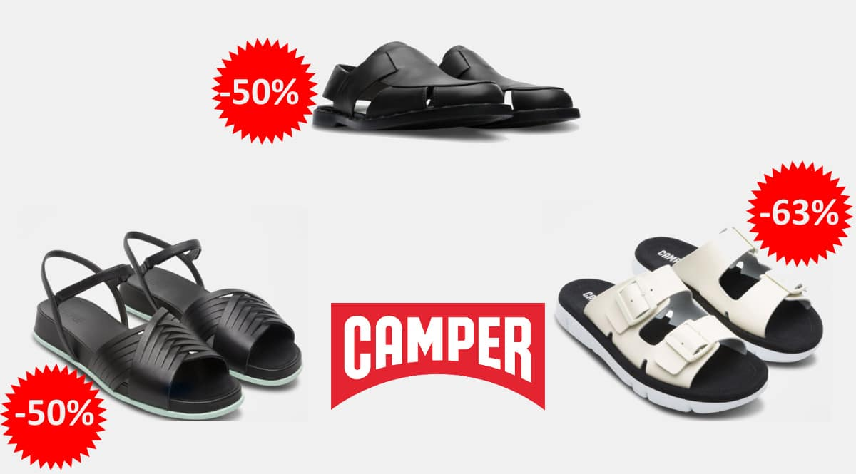 Ofertas en calzado Camper de verano, calzado de marca barato, ofertas en zapatos, chollo