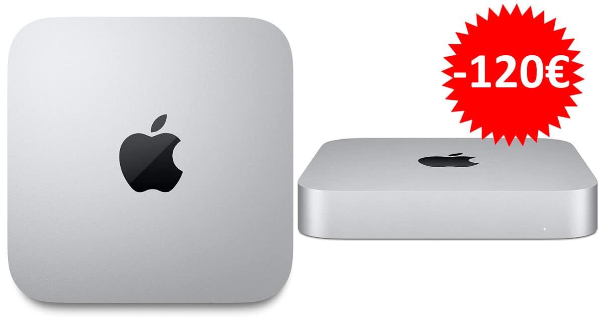¡Precio mínimo histórico! Ordenador Apple Mac Mini (2020) Chip M1/8GB RAM/256GB SSD sólo 679 euros. Te ahorras 120 euros.