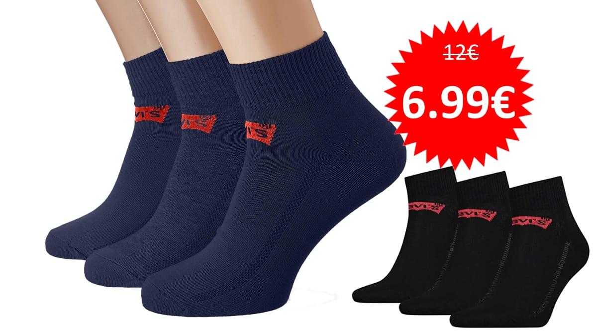 Pack de 3 pares de calcetines Levi's barato.Ofertas en ropa de marca, ropa de marca barata, chollo
