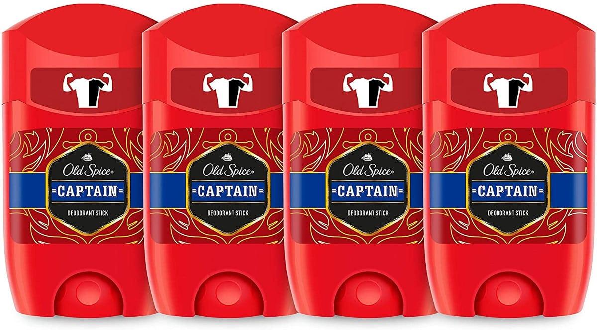Pack de 4 desodorantes para hombre Old Spice Captain barato. Ofertas en supermercado, chollo