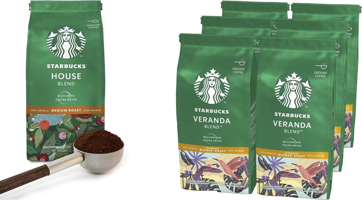 Pack de 6 bolsas de café molido Starbucks barato, café barato, ofertas en supermercado chollo