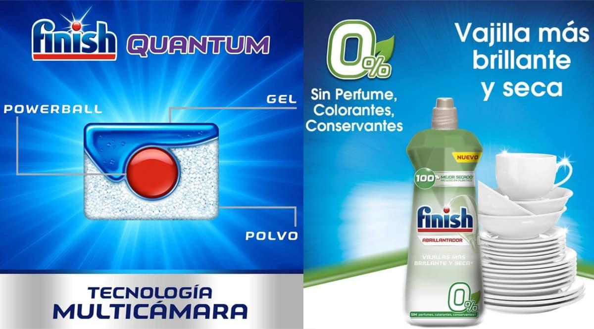 Pack detergente y abrillantador Finish barato. Ofertas en supermercado, chollo