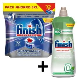 Pack detergente y abrillantador Finish barato. Ofertas en supermercado