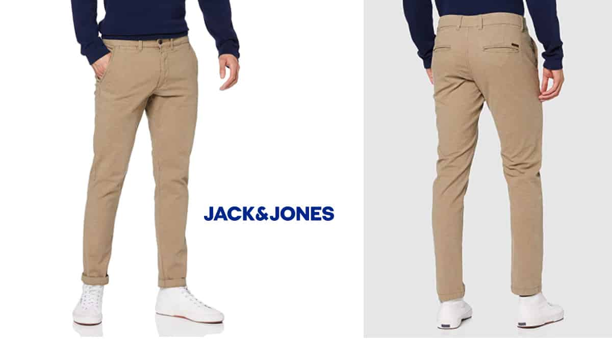 Pantalón chino Jack & Jones marco 638 barato, pantalones de marca baratos, ofertas en ropa, chollo