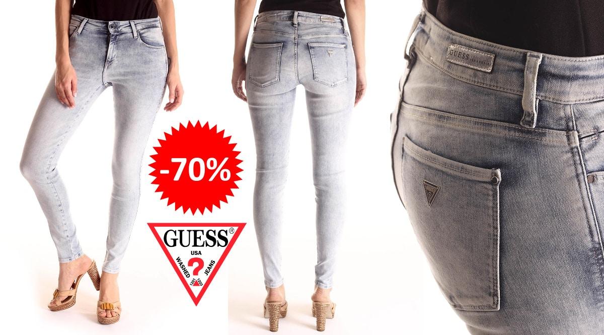 Pantalones vaqueros Guess W91AJ3 baratos, ropa de marca barata, ofertas en pantalones chollo