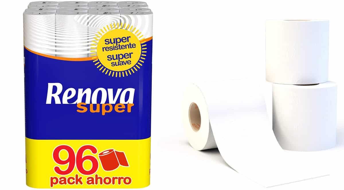 Papel higiénico Renova Super barato, papel higiénico de marca barato, ofertas en supermercado, chollo