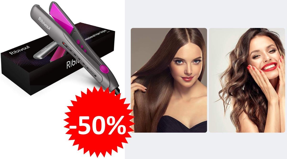 Planchas de pelo de cerámica y rizador 2 en 1 Ribivaul baratas planchas de pelo ed marca baratas, ofertas en belleza, chollo
