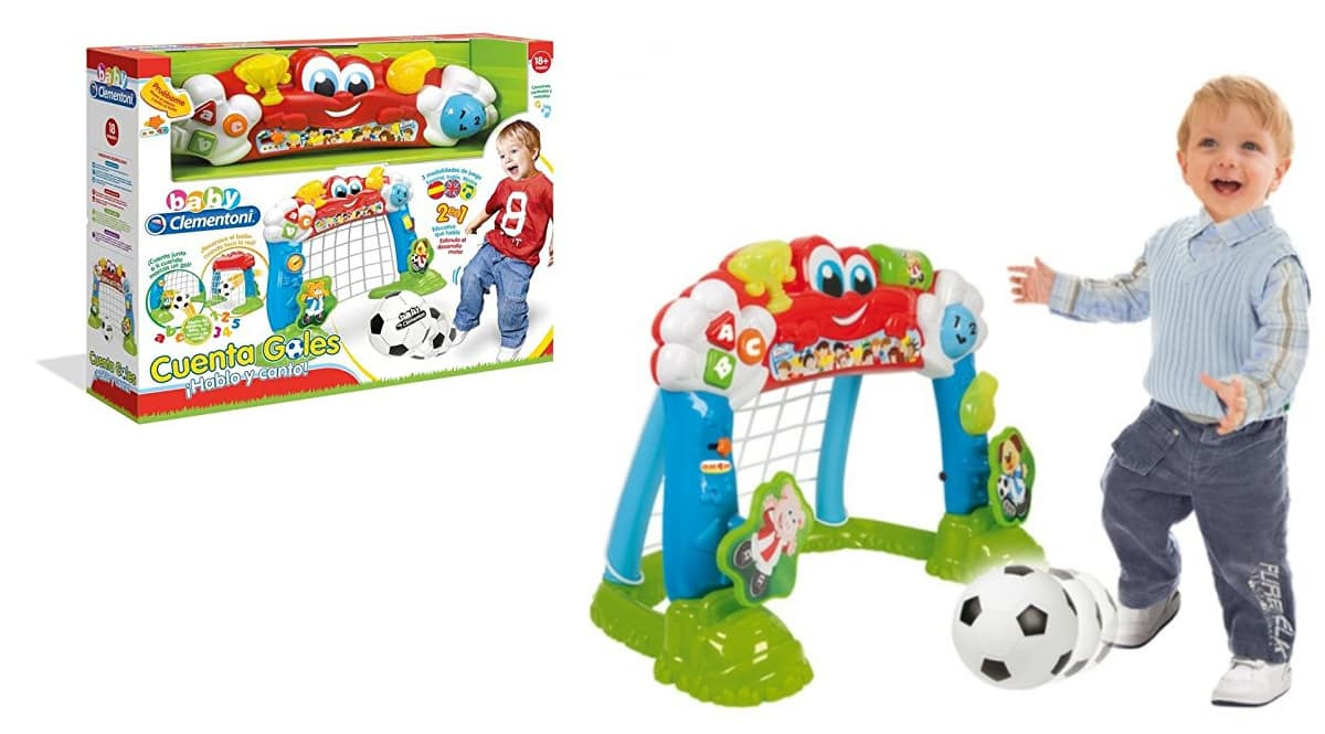 Portería interactiva cuenta goles Baby Clementoni barata, porterías de fútbol de marca baratas, ofertas en juguetes,