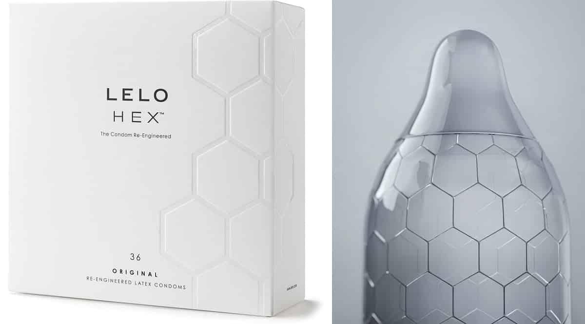 Preservativos Lelo Hex baratos, condones de marca baratos, ofertas para ti, chollo